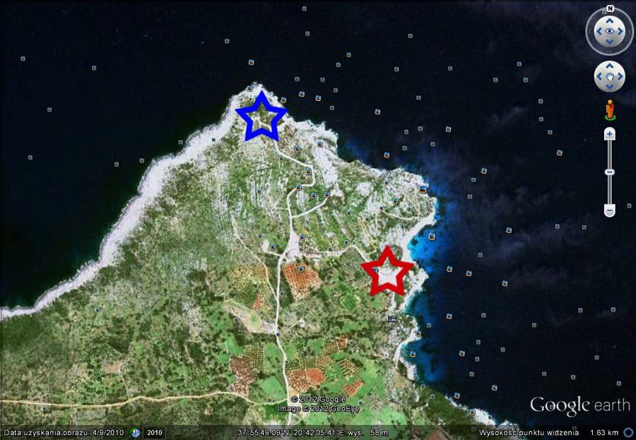 mapa Skinari