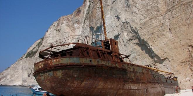Zakynthos – Zatoka Wraku od strony morza