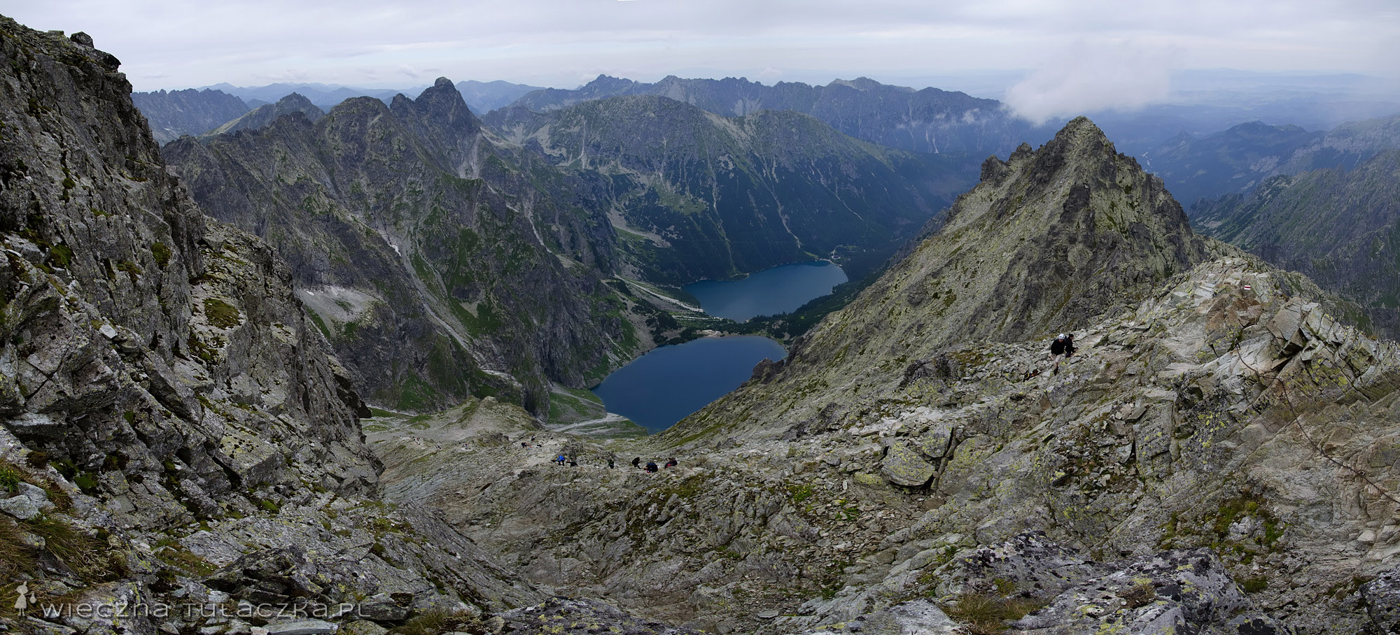 Szlak na Rysy widziany tuż pod wierzchołkiem