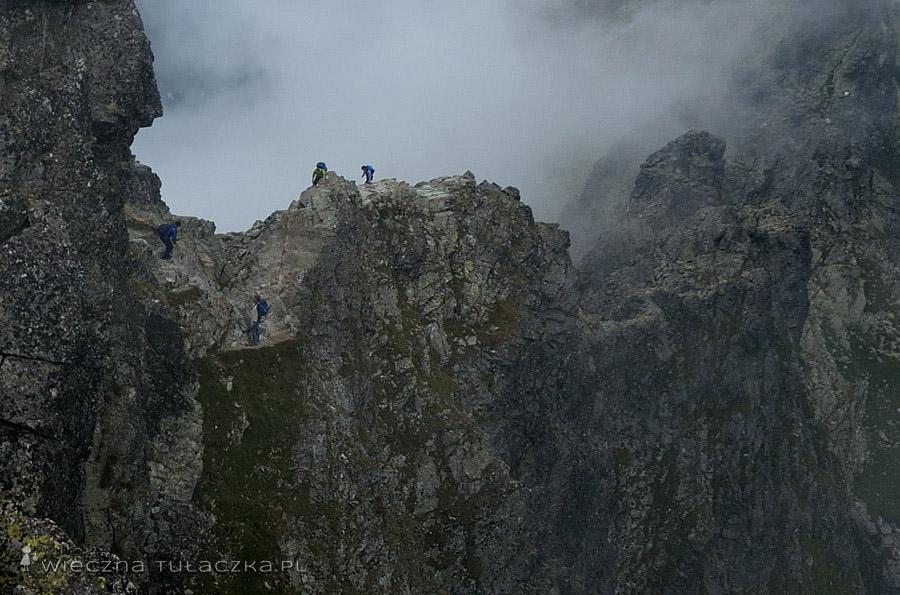 Grań pomiędzy Rysami a Przełęczą pod Rysami