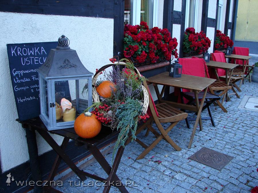 Jesienna dekoracja w jednej z restauracji