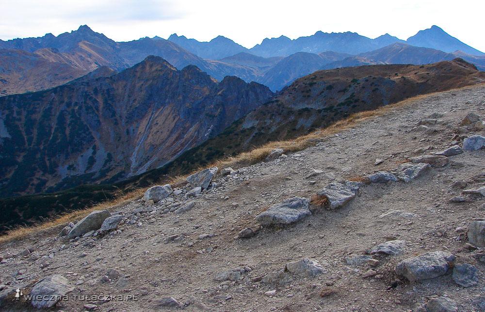 Szlak łączący Kopę Kondracką z Giewontem