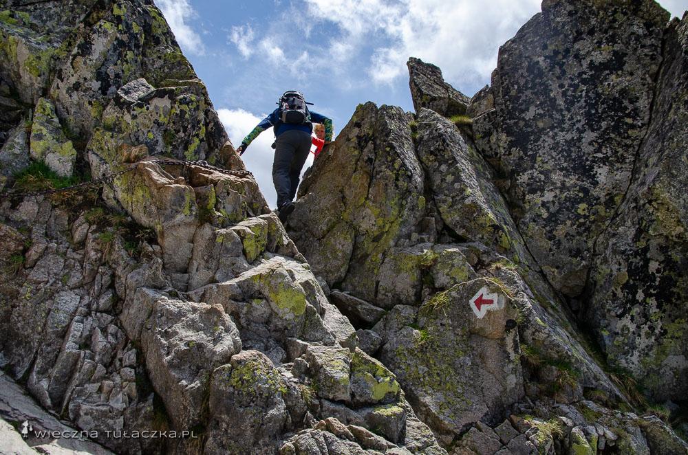 Szlak na Świnicę od strony Świnickiej Przełęczy