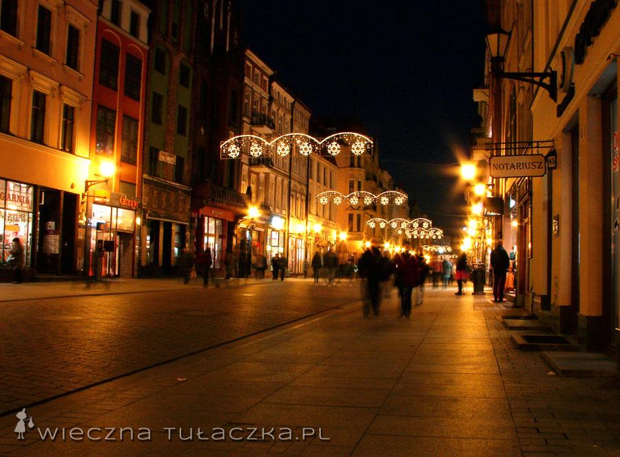 Ulica Szeroka rozświetlona przez gwiazdki