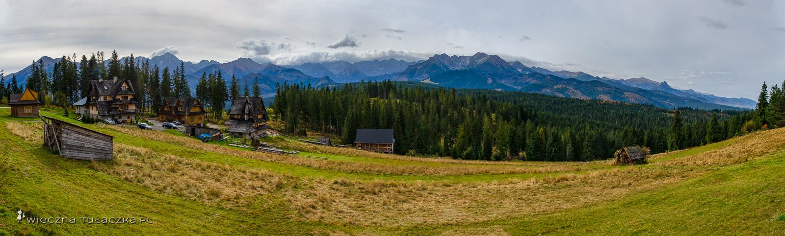 Panorama z Głodówki na Tatry