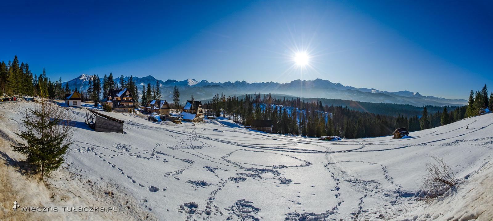 Panorama z Głodówki zimą