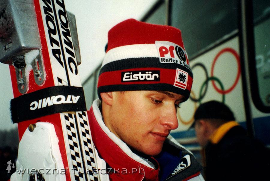 Reinhard Schwarzenberger, mocny członek austriackiej ekipy, drużynowy medalista.