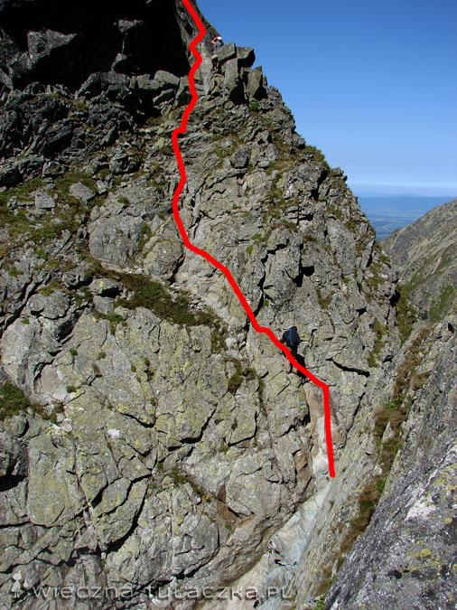Zejście z Zamarłej Turni do Koziej Przełęczy