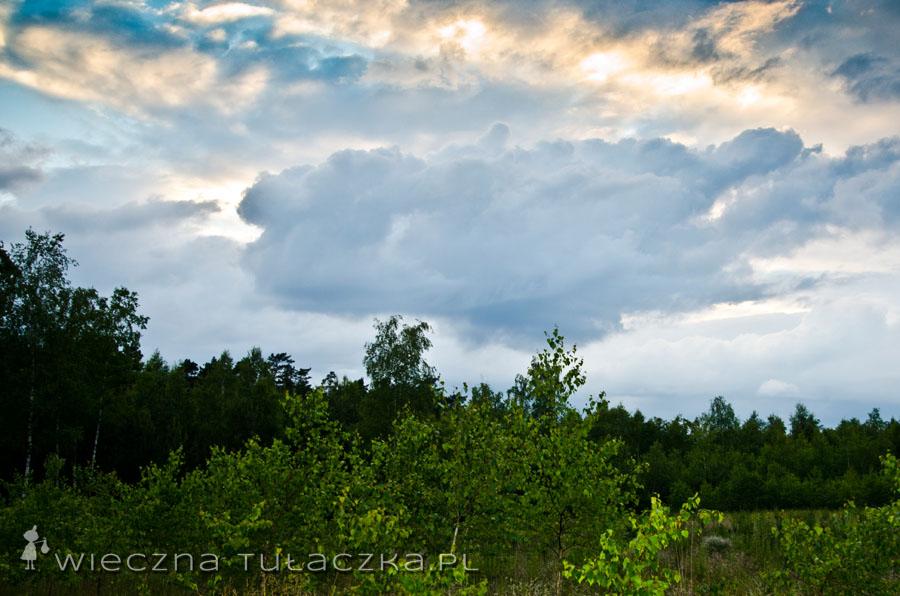 Kiedy chmur nie ma to słonko chowa się za drzewa, więc z niebywałego zachodu nici, ale kto by się przejmował ;)