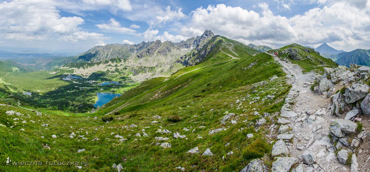 Dolina Gąsienicowa oraz Krywań z okolic Liliowego