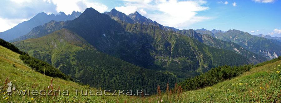 widok z Szerokiej Przełęczy