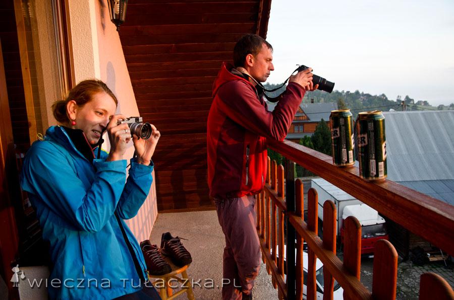 ...szarpnęliśmy się na jeszcze jeden wysiłek :) Fotografing na tarasie :P