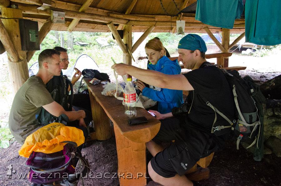 W taborze udajemy taterników ;)