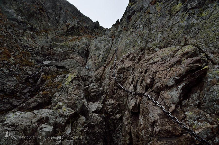 Szlak na Zawrat od strony Doliny Gąsienicowej