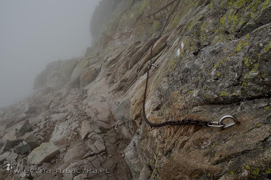 Szlak ze Świnicy na Świnicką Przełęcz