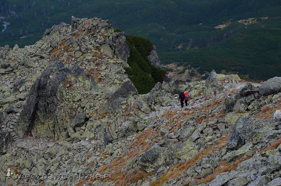 Para ze zdjęcia zawróciła przy pierwszych trudnościach, dziewczyna kompletnie nie radziła sobie ze szlakiem (albo raczej strachem) i posuwała się żółwim tempem nawet na najprostszych kamiennych stopniach. Najważniejsze, to wiedzieć kiedy się wycofać i podejmować własciwe decyzje w górach :)