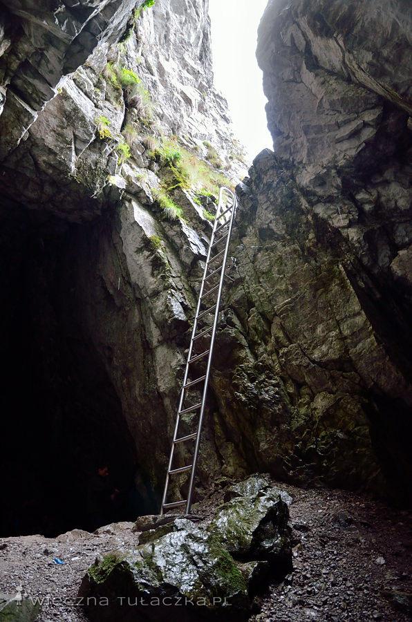 Drabina w Jaskini Raptawickiej