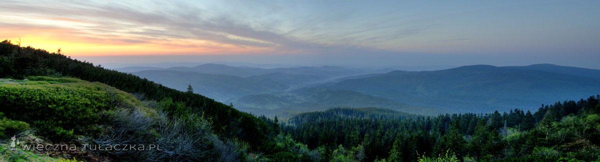 Przełęcz Brona - panorama