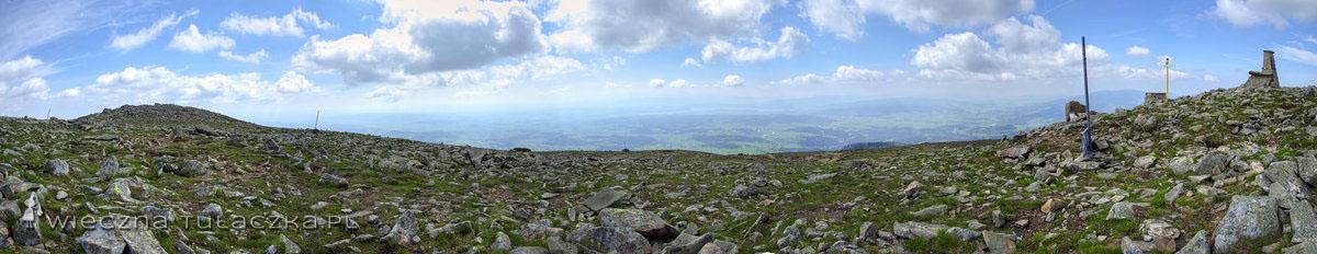 Panorama z Diablaka na południe
