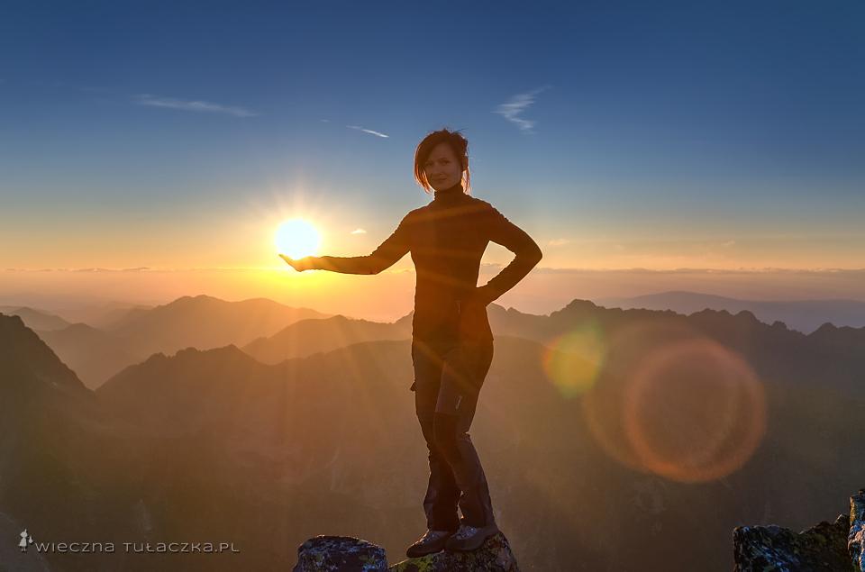 Niżnie Rysy - zachód słońca