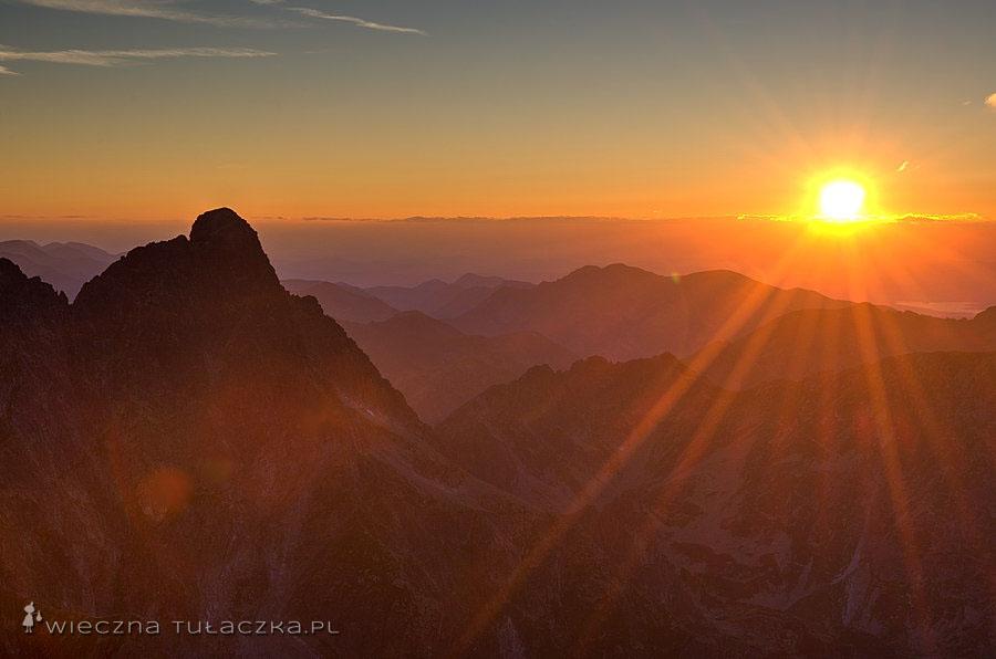 Zachód słońca na Niżnich Rysach