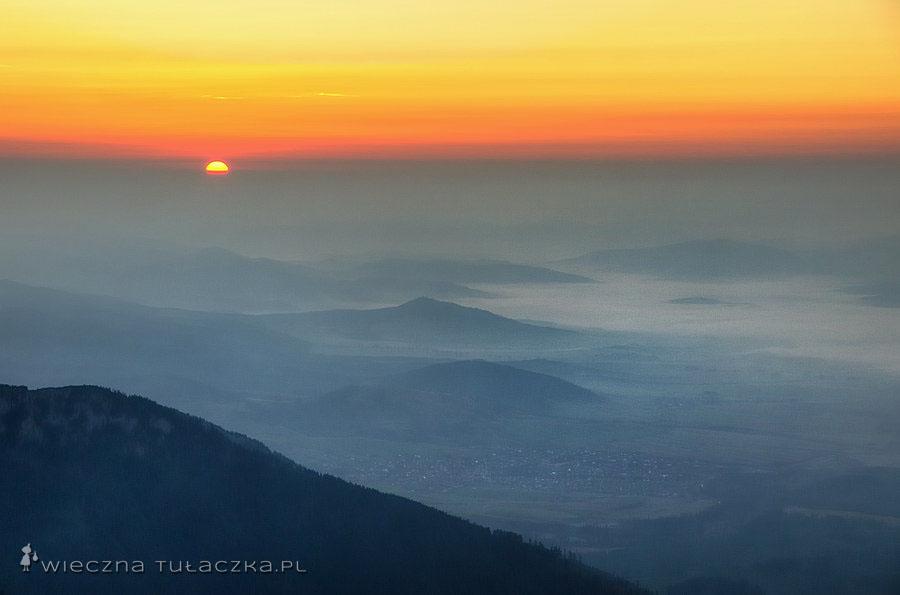 Wschód słońca z Rakuskiej Czuby