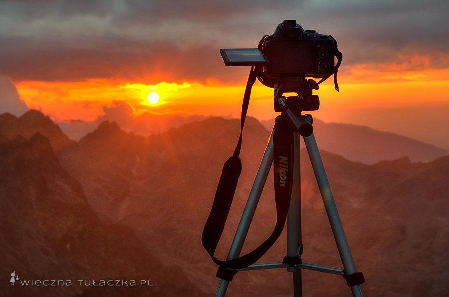 Sławkowski Szczyt zachód słońca