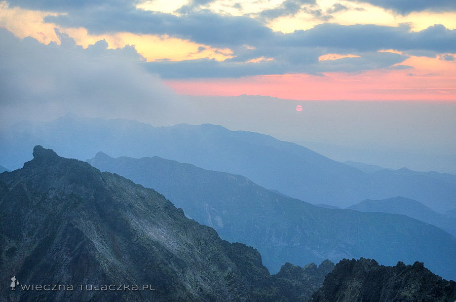 Baranie Rogi - zachód słońca