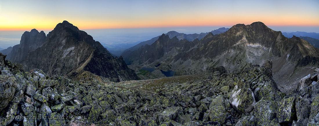 Baranie Rogi - panorama o wschodzie słońca