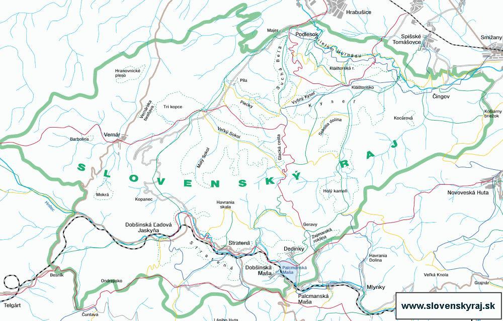 Słowacki Raj, mapa