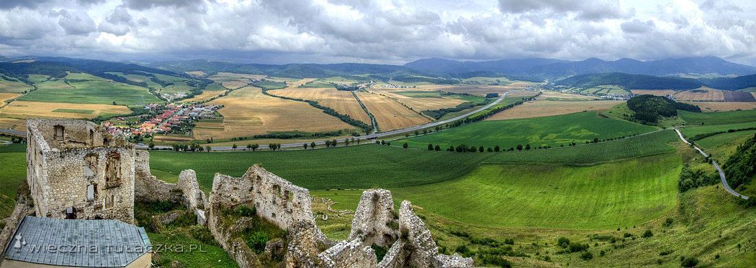 Zamek Spiski - widok z wieży