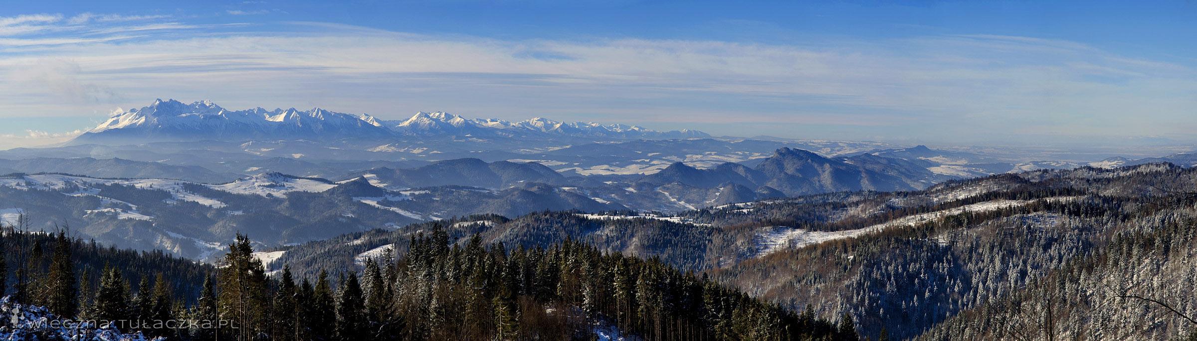 Panorama Tatr z Beskidu Sądeckiego