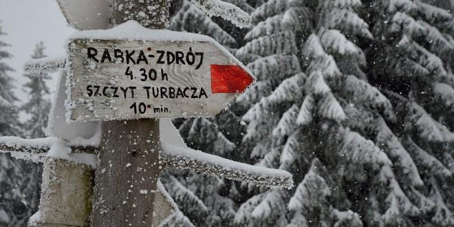 GORCE: Turbacz zimą (z Łopusznej do Rabki-Zdrój)