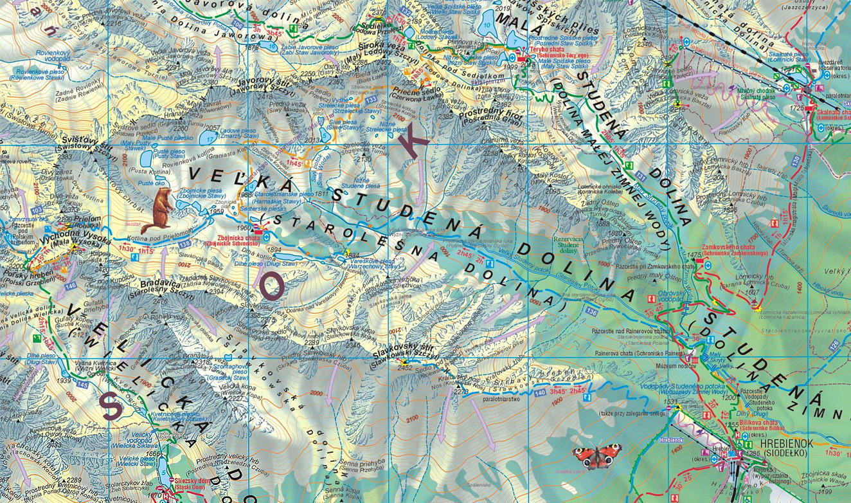Staroleśna Dolina - mapa Wyd. Sygnatura