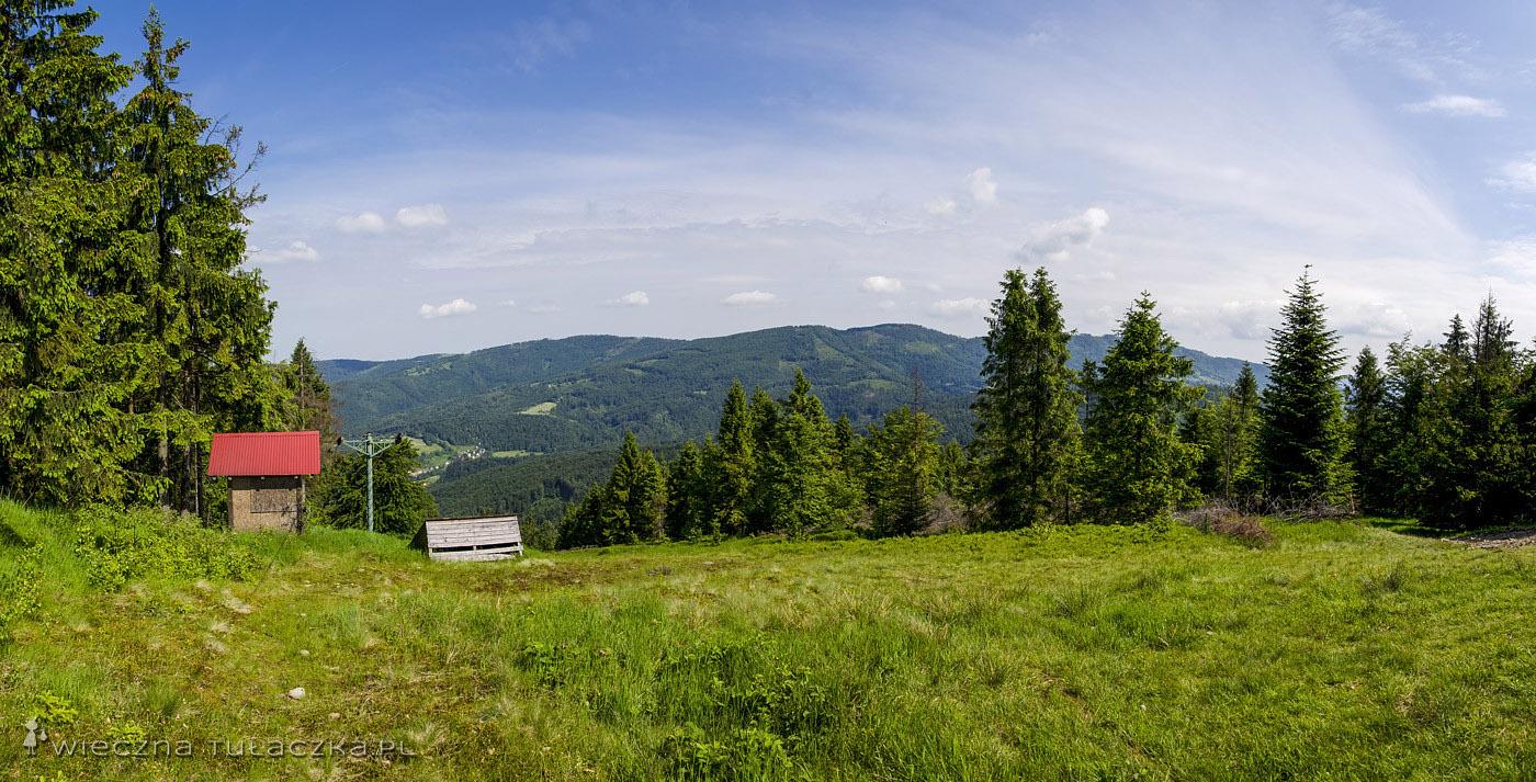 Hyrca, panorama na północny zachód