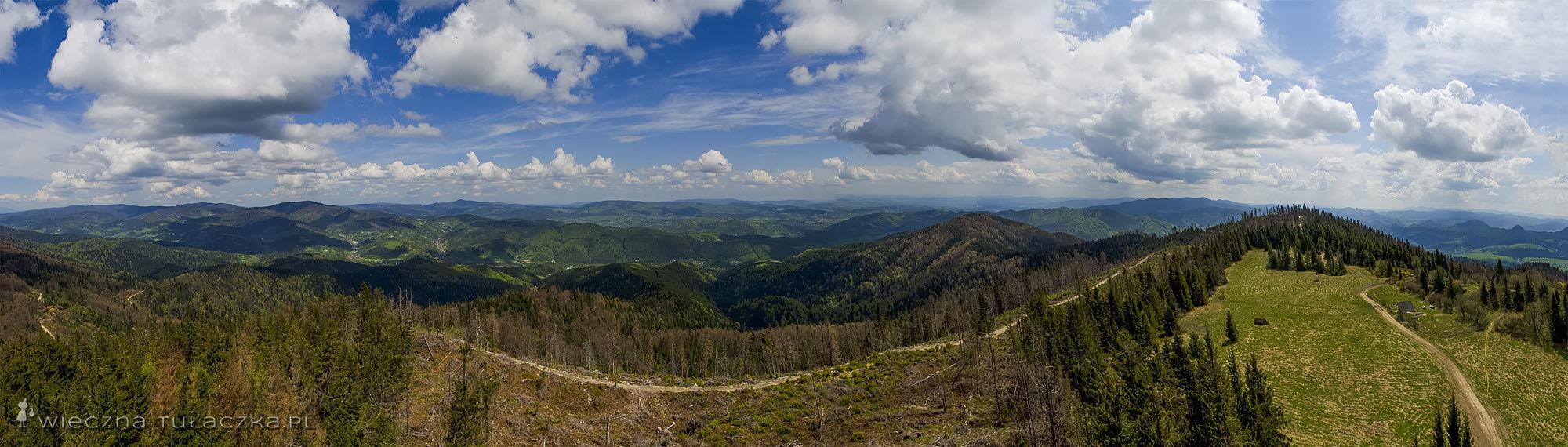 Lubań, panorama na Beskidy oraz Pieniny