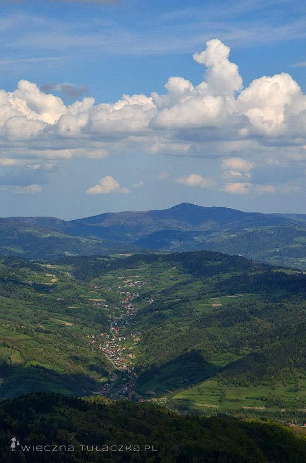 Mogielica, widok z Lubania