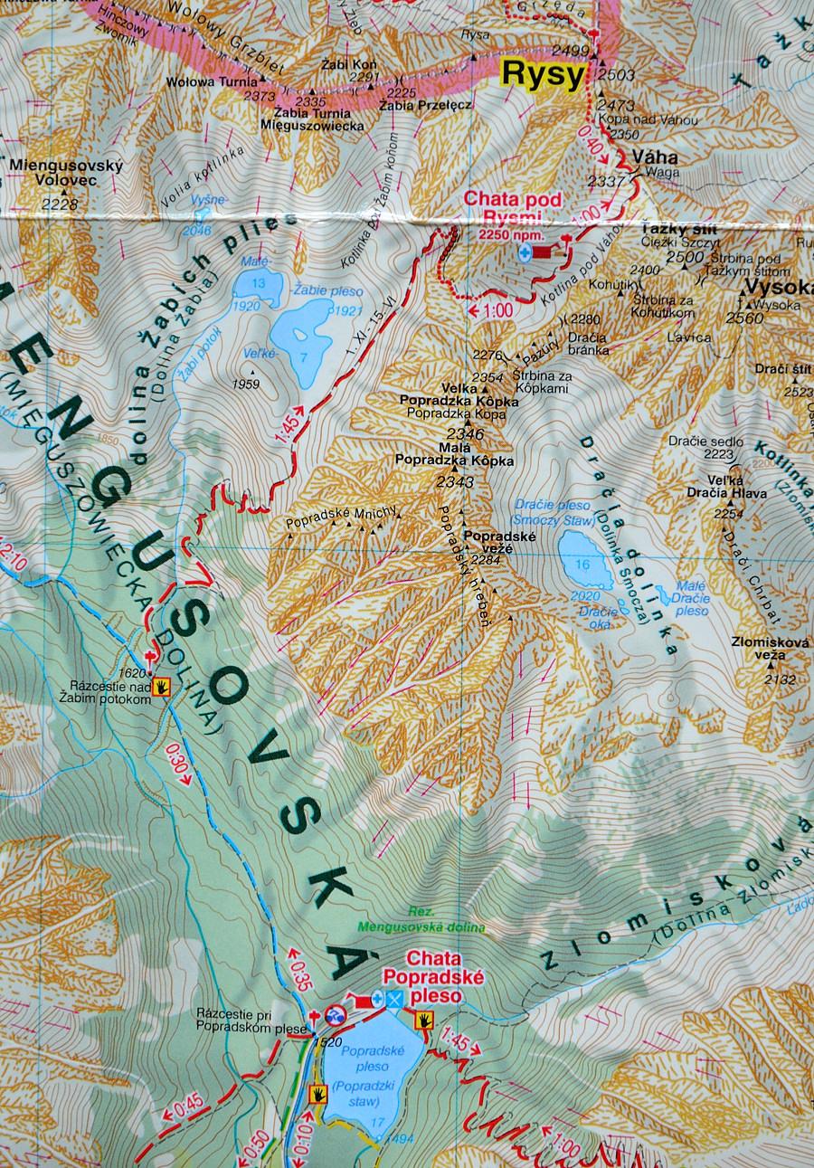 Mapa WiT - Tatry
