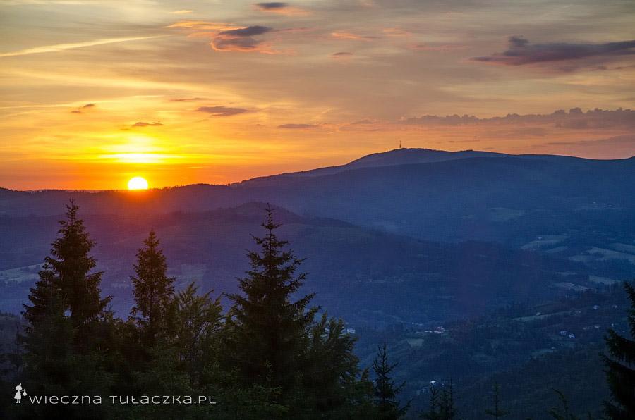 Wschód słońca na Wielkim Stożku