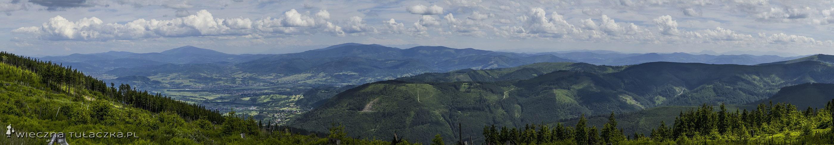 Panorama z Kopy Skrzyczeńskiej
