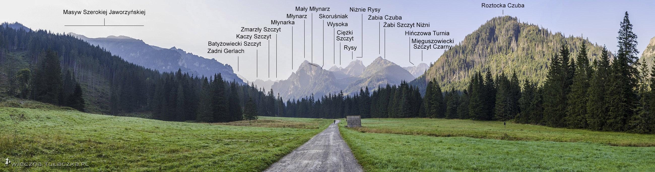 Polana Biała Woda - panorama