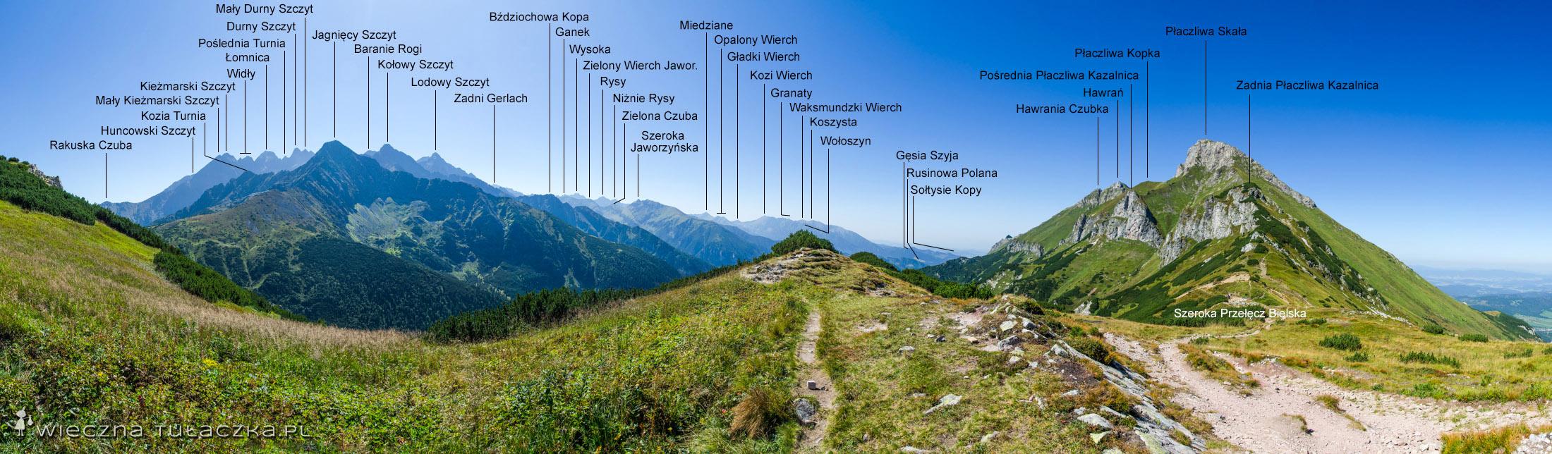 Panorama z Szerokiej Przełęczy