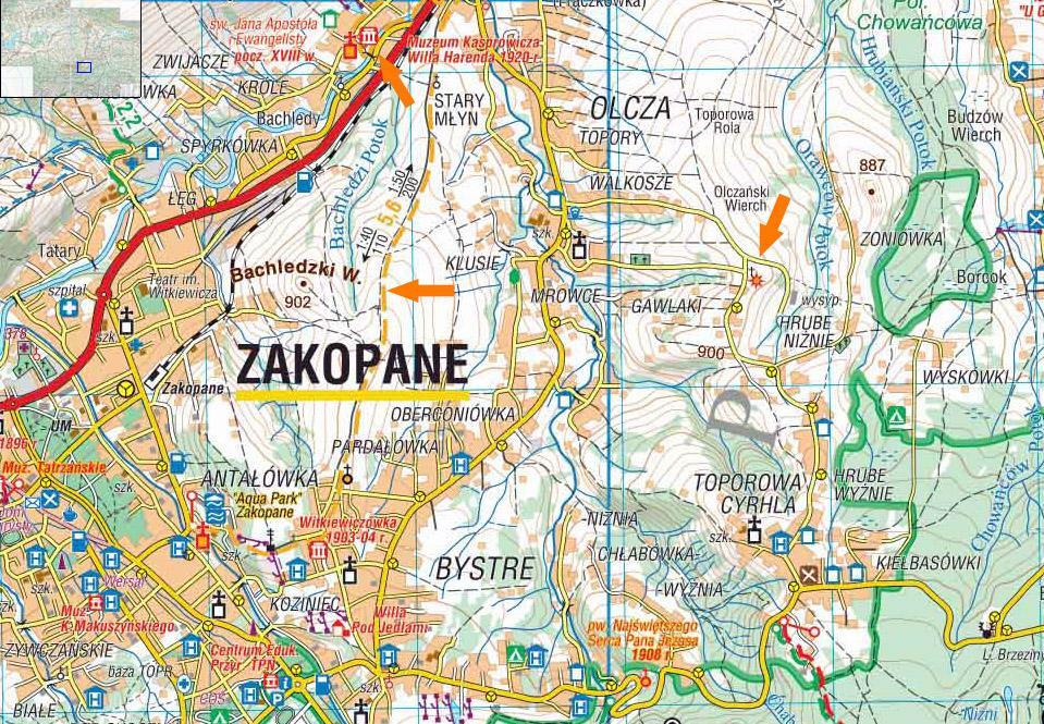 Mapa Podhala
