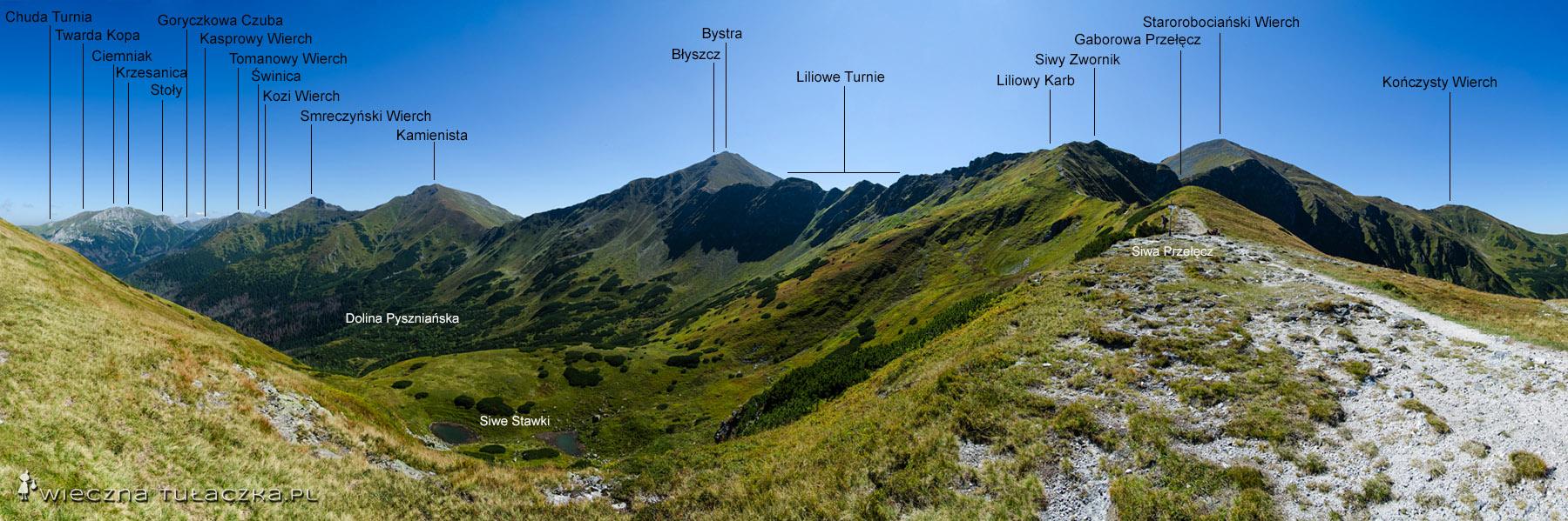 Siwa Przełęcz - panorama