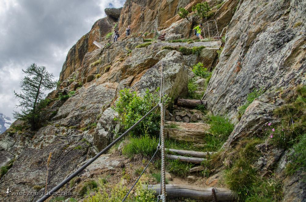 Szlak łączący Furggstalden oraz schronisko Almagelleralp
