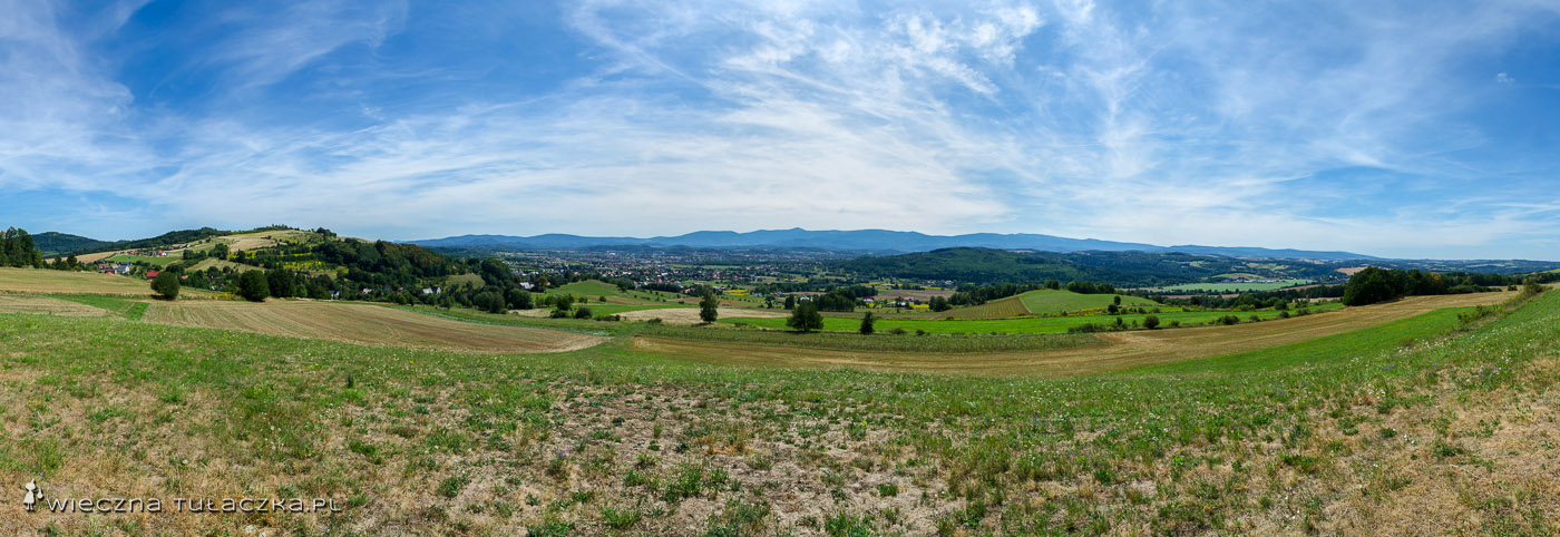 Panorama ze Srebrnej Góry