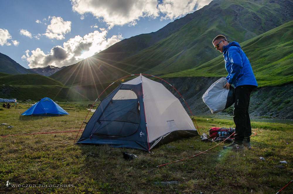 Camping w Tuszetii