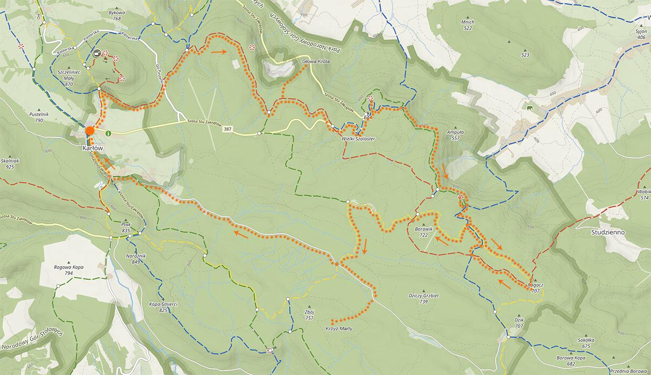 Mapa Gór Stołowych
