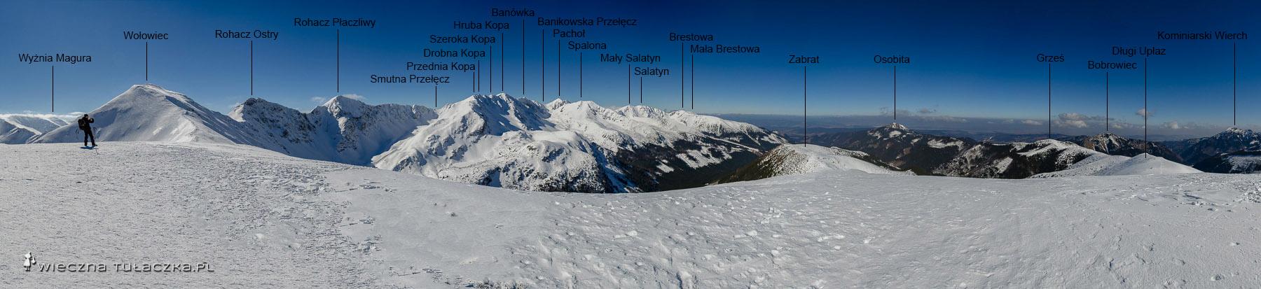 Opracowana panorama z Rakonia