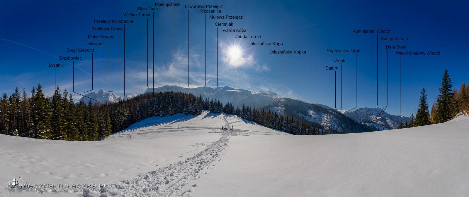 Panorama z Przysłopu Miętusiego